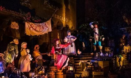 Disney World Pirates of the Caribbean Auction Scene