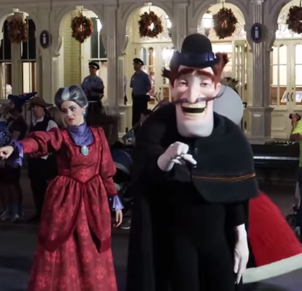 Mickeys Not So Scary Halloween Boo To You Parade Magic Kingdom Evil Stepmother Cinderella Bowler Hat Guy