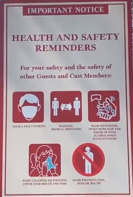Safety Sign Disney COVID-19